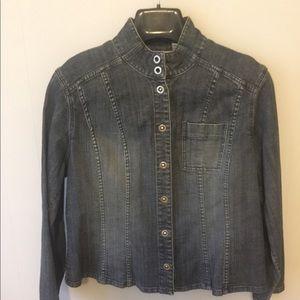 Chico's Platinum Petite basic denim jacket